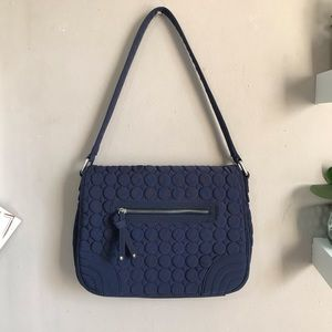 Vera Bradley Classic Navy Quilted Shoulder Purse